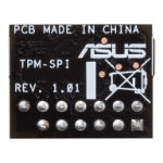 ASUS TPM-SPI TPM Chip, Improve Your Computer's Security. 14-1 pin and SPI interface, Nuvoton NPCT750, Com