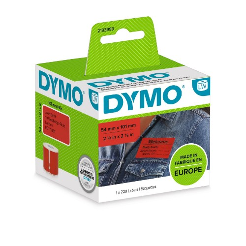 DYMO LW Coloured Shipping/Name Badge Label RED - 54x101 - 1 Roll á 220 Labels - 2133399