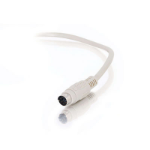 """C2G 25ft PS/2 M/M Keyboard/Mouse Cable PS/2 cable 300"""" (7.62 m) White"""