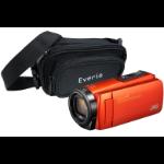 JVC GZ-R495 Orange 4GB Memory HD Quad Proof Camcorder inc Everio Case