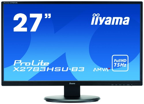 "iiyama ProLite X2783HSU-B3 27"" Full HD LED Matt Flat Black computer monitor"