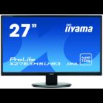 "iiyama ProLite X2783HSU-B3 computer monitor 68.6 cm (27"") 1920 x 1080 pixels Full HD LED Flat Matt Black"