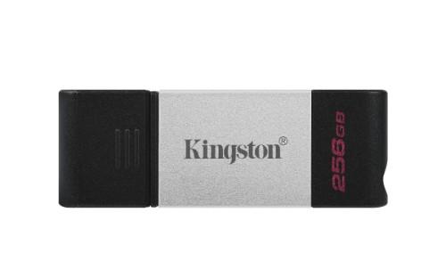 Kingston Technology DataTraveler 80 USB flash drive 256 GB USB Type-C 3.2 Gen 1 (3.1 Gen 1) Black, Silver