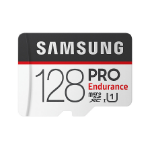 Samsung Micro SDXC 128GB Pro Endurance /w Adapter, UHS-1 SDR104, Class 10, Up to 100MB/s Read, 30MB/s Write,