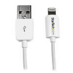 StarTech.com 2m (6ft) Long White Apple 8-pin Lightning Connector to USB Cable for iPhone / iPod / iPad USBLT2MW