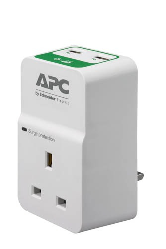 APC PM1WU2-UK surge protector 1 AC outlet(s) 230 V White