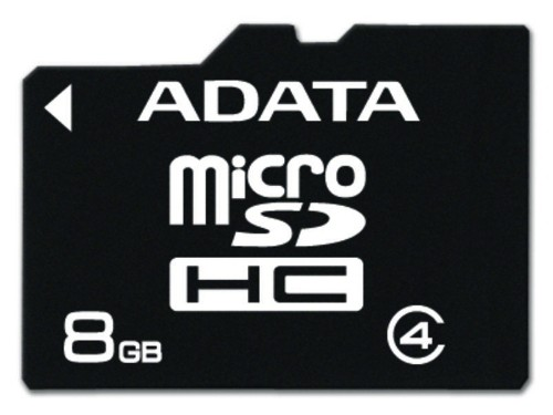 ADATA 8GB MicroSD Class 4 memory card