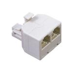 SANSAI Modular Duplex Jack 1 Plug to 2 Sockets TEL-302