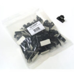 C2G 0.68in Self-Adhesive 50pk cable clamp Black 50 pcs