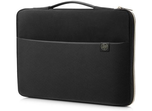 "HP 3XD37AA 17.3"" Sleeve case Black, Gold"