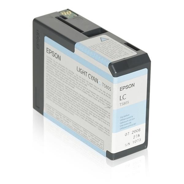 Epson C13T580500 (T5805) Ink cartridge bright cyan, 80ml