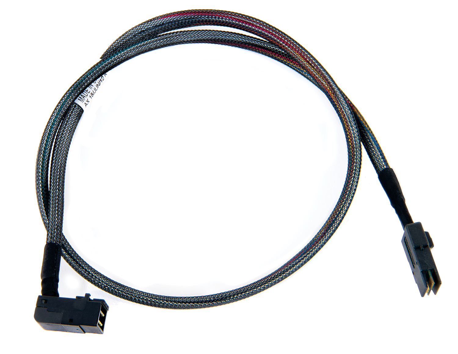 Internal R/A Mini SAS HDx4 (SFF-8643) to Mini SASx4 (SFF-8087) ACK-I-rA-HDmSAS-mSAS-.5M Cable - 0.5m