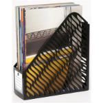 MARBIG MAGAZINE RACK TWIN PACK BLACK 1 SECTION
