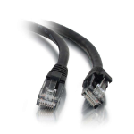 C2G 0.5m Cat5e Booted Unshielded (UTP) Network Patch Cable - Black