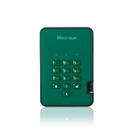 iStorage diskAshur2 256-bit 8TB USB 3.1 secure encrypted solid-state drive - Green IS-DA2-256-SSD-8000-GN