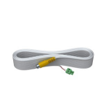 Vision 15M 1-PHONO VIDEO CABLE - High-Grade White Installation Cable. A moulded connector on one end, and a
