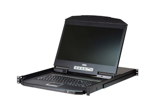 "Aten CL3116NX rack console 47 cm (18.5"") 1366 x 768 pixels Metal,Plastic Black 1U"