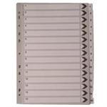 White Box WB MYLAR INDEX A4 1-15 WHITE