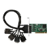 Siig DP 4-Port Industrial RS-232 Universal PCI interface cards/adapter Serial Internal