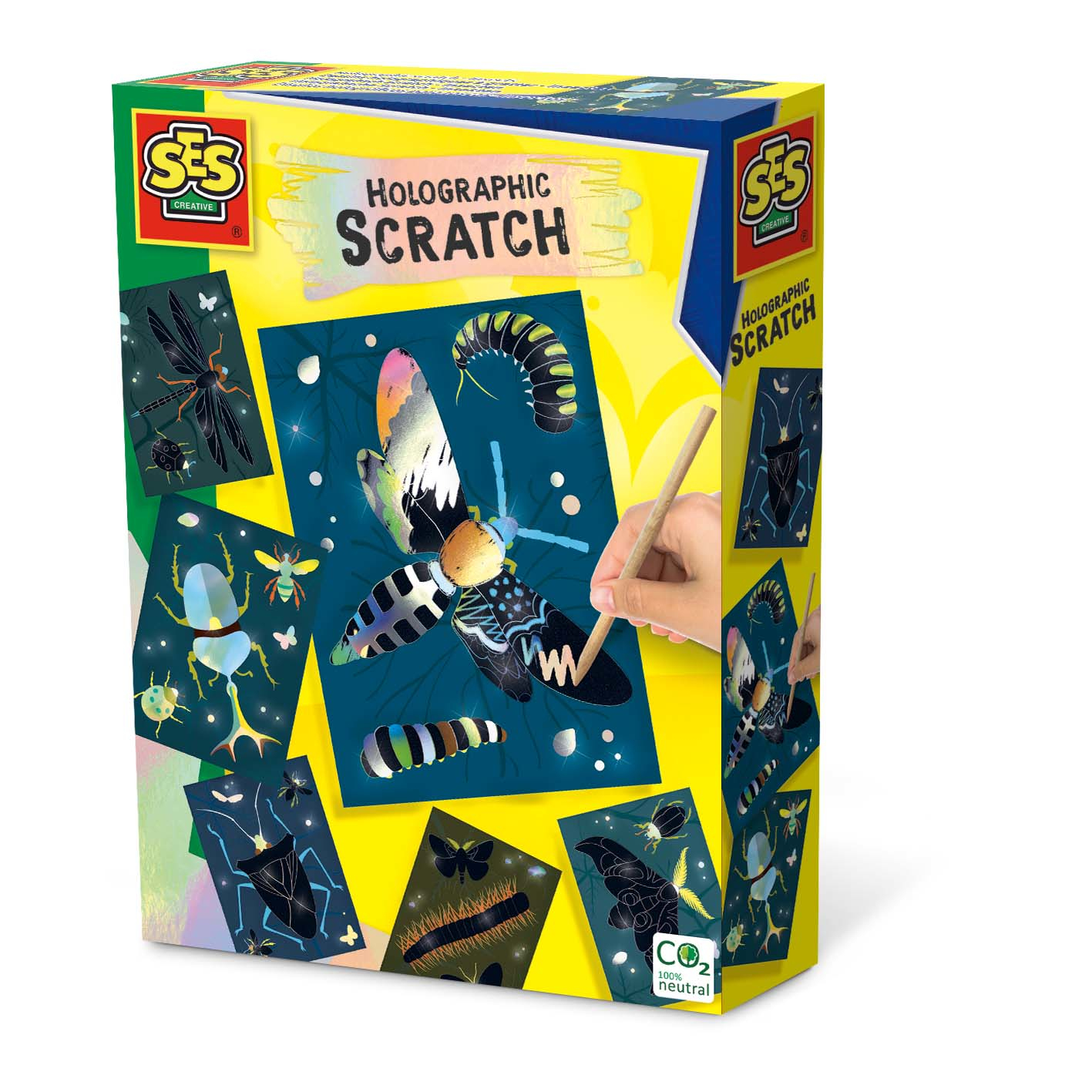 SES Creative Holographic scratch - Insects