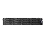 Asustor AS6212RD NAS/storage server Ethernet LAN Rack (2U) Black
