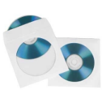 Hama CD-ROM-Papierhüllen 100, Weiß