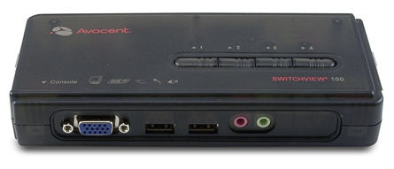 Vertiv Avocent SwitchView 100 4-port USB KVM switch Black