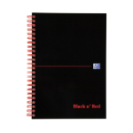 Black n' Red Notebook Soft Cover Wirebound Perforated 90gsm Ruled 100pp A5 Ref 100080155 [Pack 10]