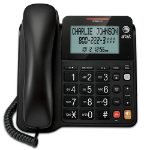 AT&T CL2940 Analog Caller ID Black Telephone