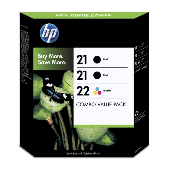 HP SD400AE#445 (21+21+22) Printhead multi pack, 5ml, Pack qty 3