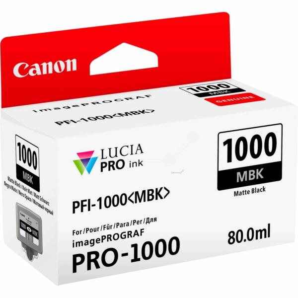 Canon 0545C001 (PFI-1000 MBK) Ink cartridge black matt, 5.49K pages, 80ml