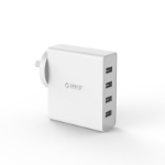 Orico 4 Port USB Wall Charger (DCW-4U-AU) - White; 4 USB Charging Ports; 5V2.4A Per Port; 5V6A 30W Max; AC