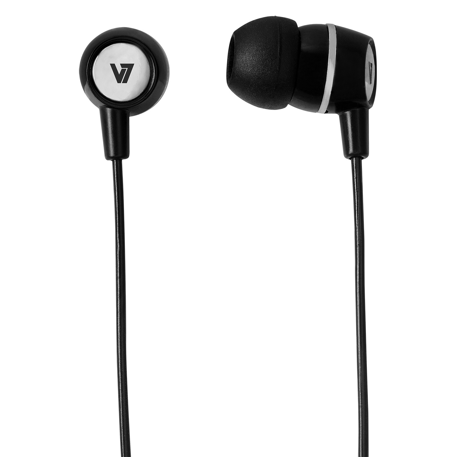 Earbuds With Inline Mic Black 3.5mm Plug For Mobile Devices