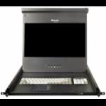 """Raritan T1700 17.3"""" 1920 x 1080pixels Black 1U Rack Console"""