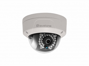 LevelOne GEMINI Fixed Dome IP Network Camera, 2-Megapixel, 802.3af PoE, Vandalproof, IR LEDs, Indoor