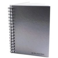 Pukka Notebook Wirebound Hardback Perforated Ruled 90gsm 160pp A5 Silver Ref WRULA5 [Pack 5]