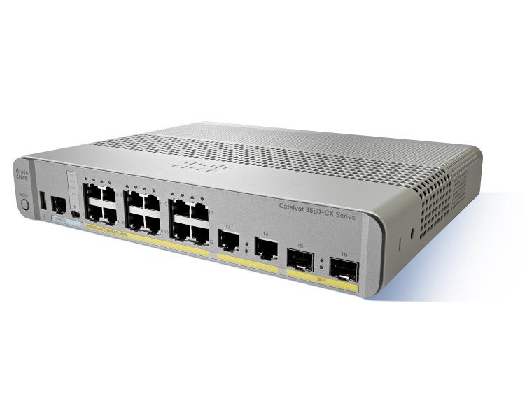 Cisco Catalyst WS-C3560CX-12TC-S Managed L3 Gigabit Ethernet (10/100/1000) Grey,White network switch