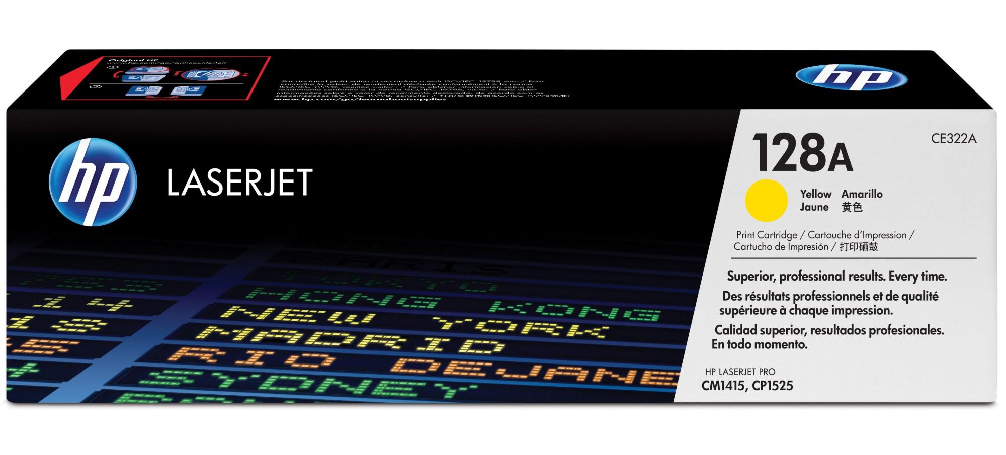 HP 128A Origineel Geel 1 stuk(s)