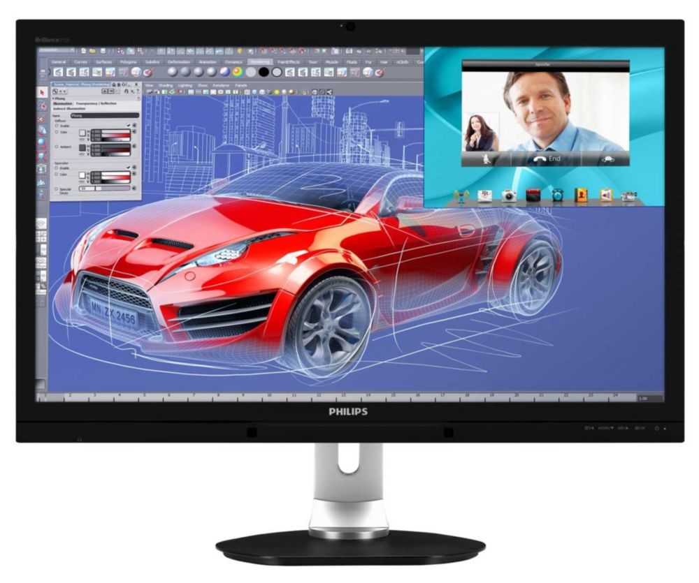 Philips Brilliance LCD monitor with Webcam, MultiView