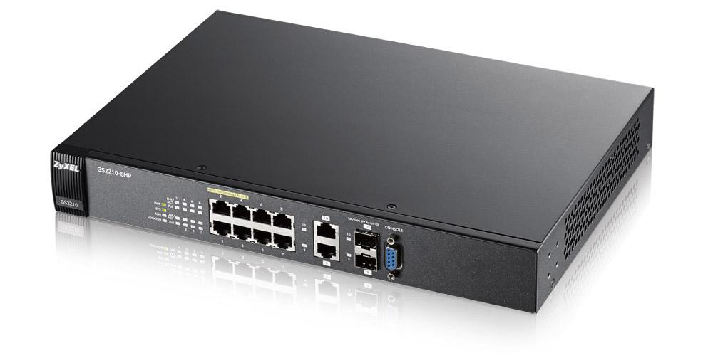 Zyxel GS2210-8HP Gestionado L2 Gigabit Ethernet (10/100/1000) Negro Energía sobre Ethernet (PoE)
