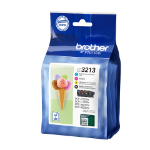 Brother LC-3213VAL 400pages 400pages Black, Cyan, Magenta, Yellow ink cartridge LC3213VAL