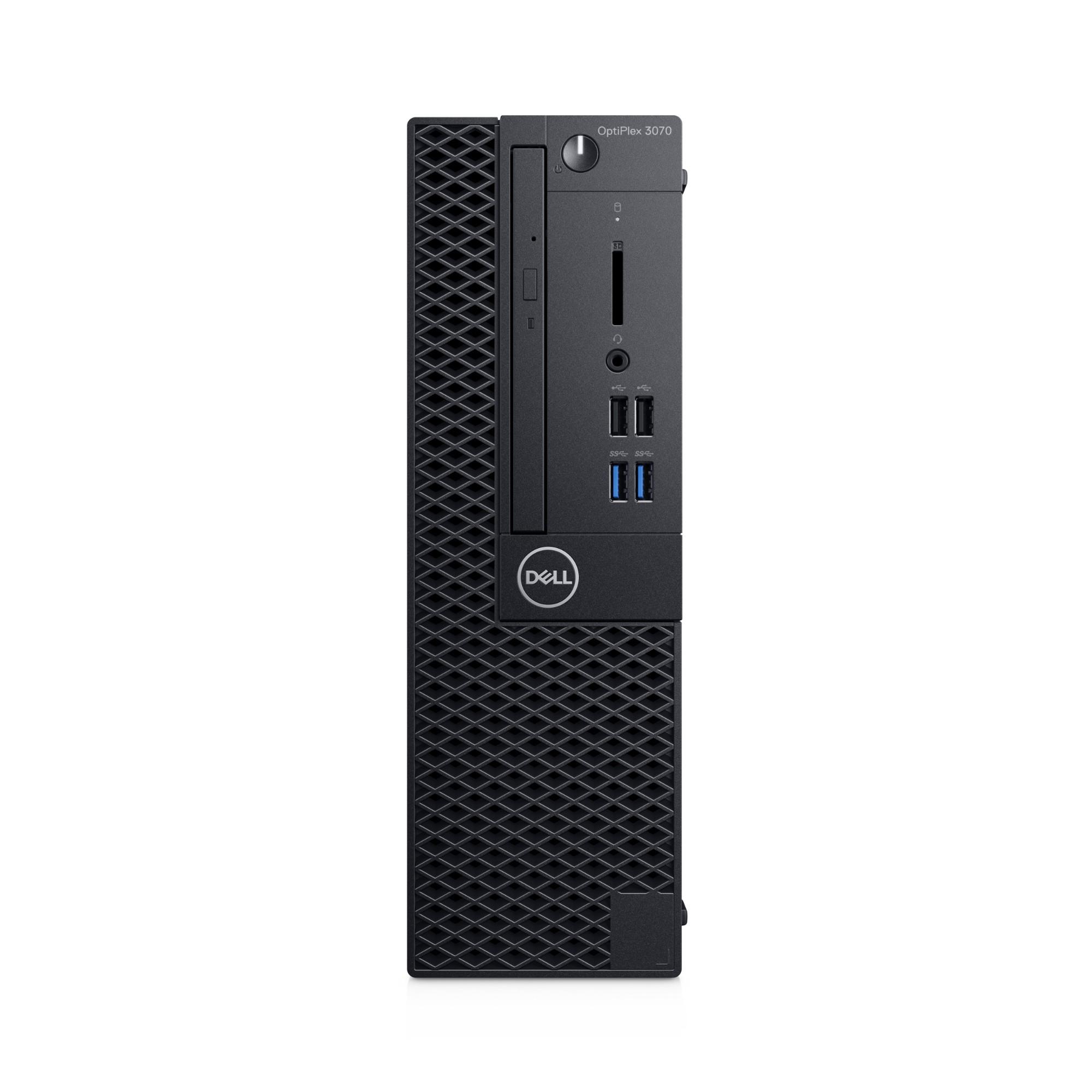 DELL OPTIPLEX 3070 9TH GEN INTEL CORE I3 I3-9100 8 GB DDR4-SDRAM 256 GB SSD BLACK SFF PC