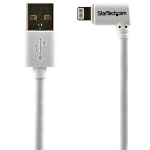 StarTech.com 2 m (6 ft.) USB to Lightning Cable - Right Angle iPhone / iPad / iPod Charger Cable - 90 Degree Lightning to USB Cable - Apple MFi Certified - White