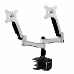"Amer AMR2AC monitor mount / stand 61 cm (24"") Clamp Black, Silver"