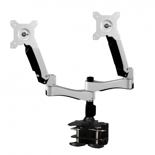 Articulating Dual Monitor Clamp Grommet