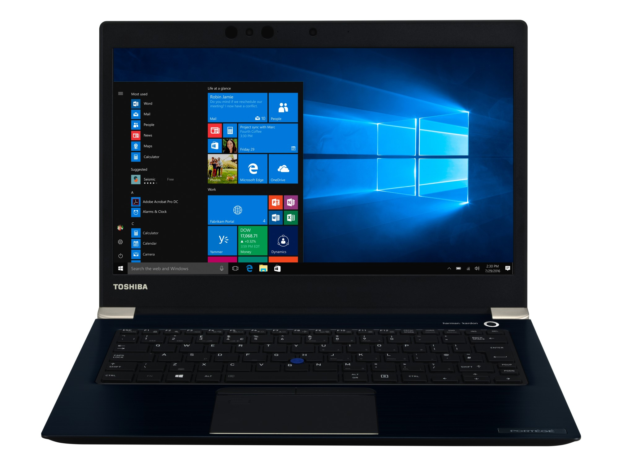 Toshiba Portégé X30-E-1J7 Blue Notebook 33.8 cm (13.3