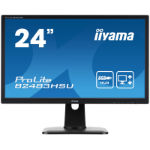 "iiyama ProLite B2483HSU-B1DP LED display 61 cm (24"") 1920 x 1080 pixels Full HD Flat Matt Black"