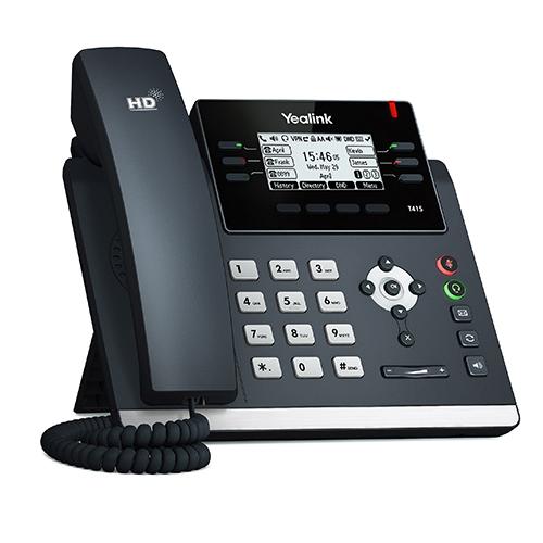 Yealink SIP-T41S IP phone Black Wired handset LCD 6 lines