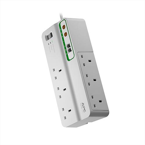 APC SurgeArrest surge protector 6 AC outlet(s) 230 V 3 m White