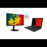 "Lenovo ThinkPad L480 + ThinkVision T24m Zwart Notebook 35,6 cm (14"") 1920 x 1080 Pixels 1,60 GHz Intel® 8ste generatie Core™ i5 i5-8250U"